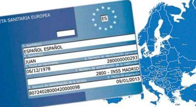 Tarjeta sanitaria Europea en vacaciones