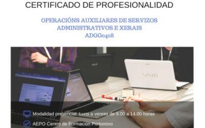 Curso Operacións Auxiliares de Servizos Administrativos e Xerais