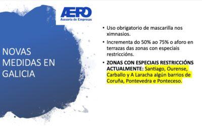Novas medidas en Galicia