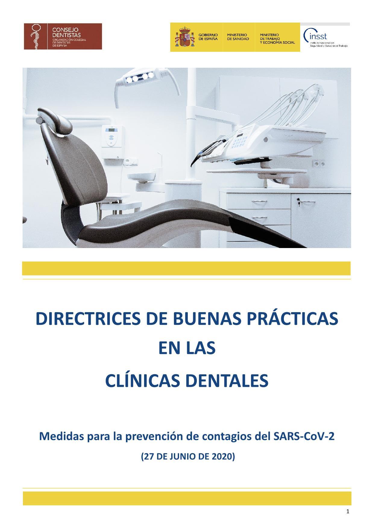Directrices de buenas prácticas en las clínicas dentales_1