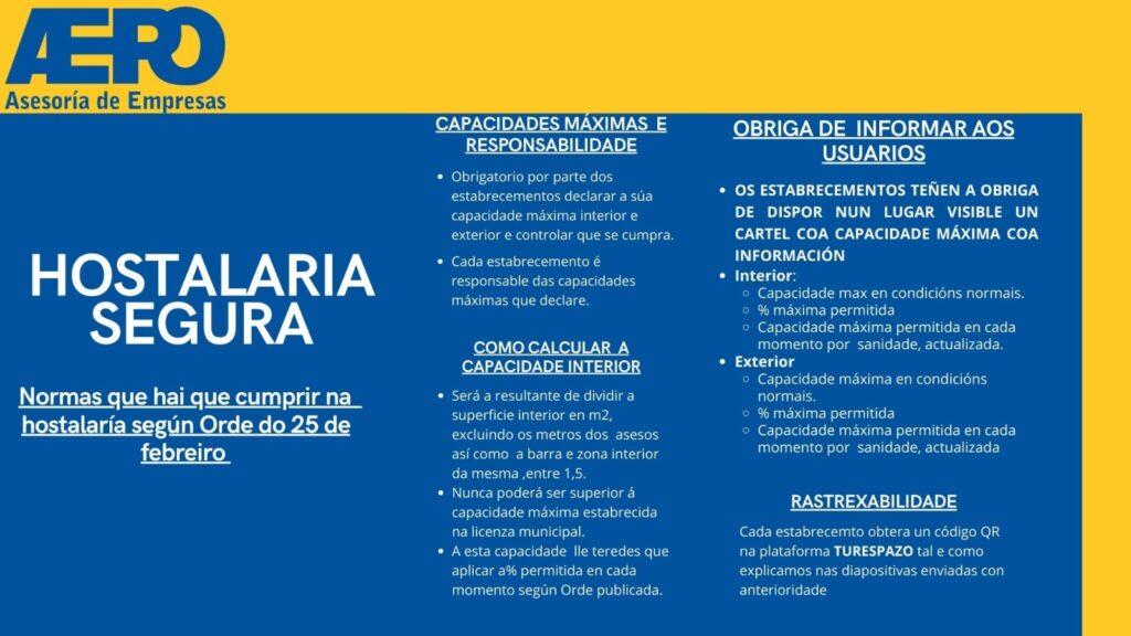 plan de hostalaria segura en Galicia
