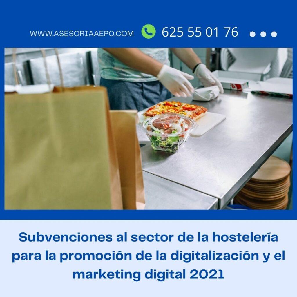 Subvenciones al sector de la hosteleria 2021